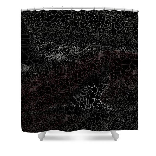 Birds Over Crops Shower Curtain