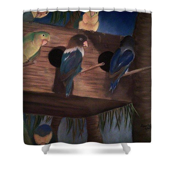 Birds Resting Shower Curtain