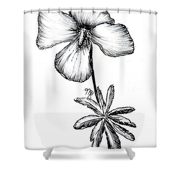 Birdsfoot Violet Shower Curtain