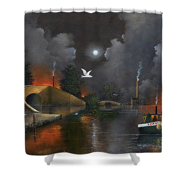 Shower Curtain featuring the painting Birmingham And Liverpool Junction by Ken Wood