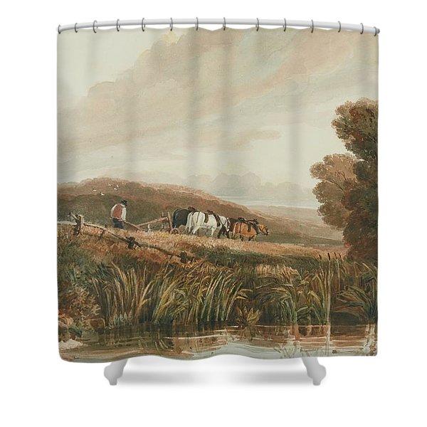 Birmingham Ploughing Shower Curtain