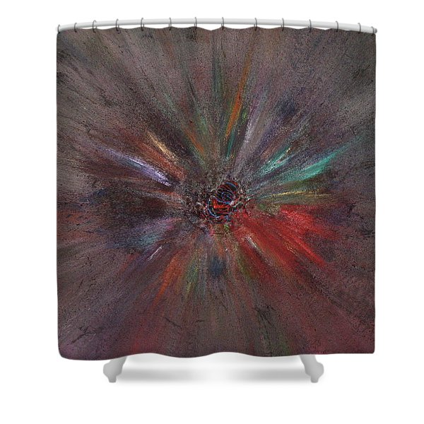 Shower Curtain featuring the painting Birth Of A Soul by Michael Lucarelli