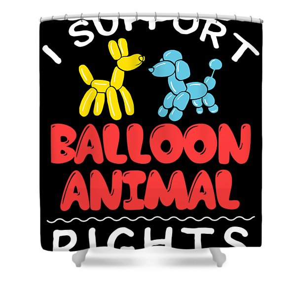 Birthday Circus Carnival Balloon Animal Party Apparel Shower Curtain