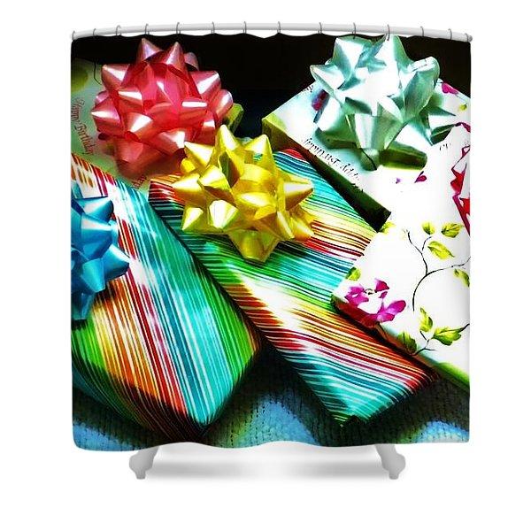 Birthday Presents Shower Curtain