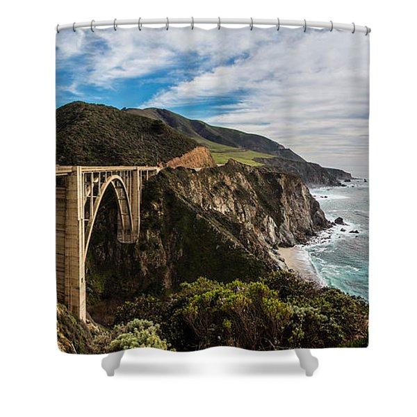 Bixby Creek Bridge Big Sur California  Shower Curtain