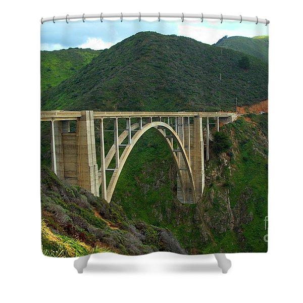 Bixby Bridge In Big Sur Shower Curtain