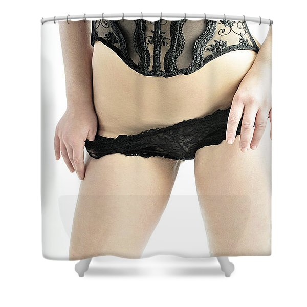 Black And Black Shower Curtain