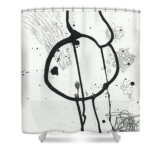 Black And White # 24 Shower Curtain