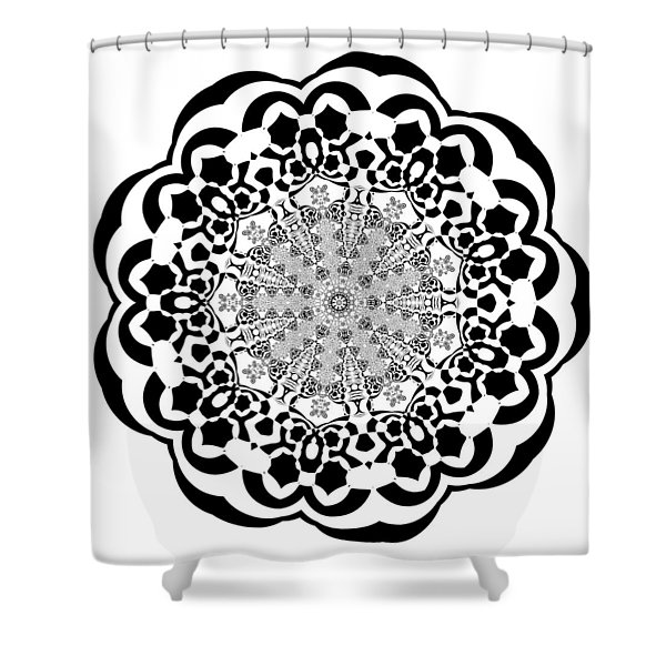 Shower Curtain featuring the digital art Black And White 4 by Robert Thalmeier