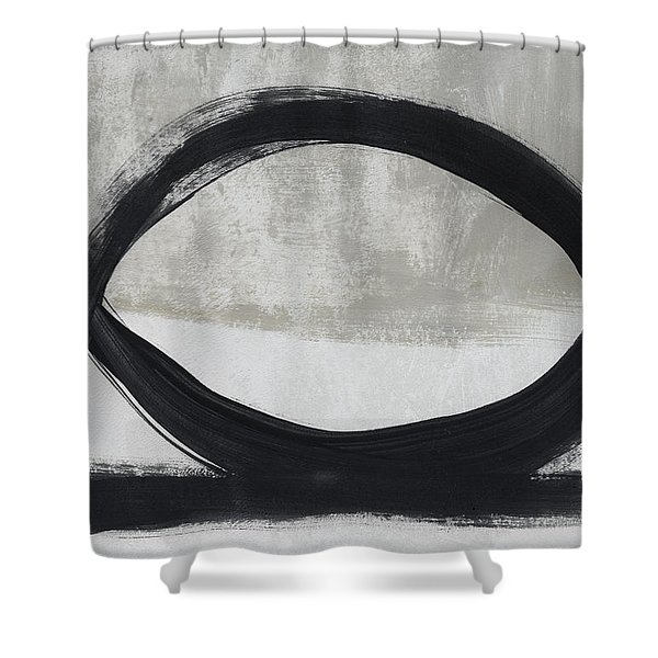 Black And White Abstract 2- Art By Linda Woods Shower Curtain
