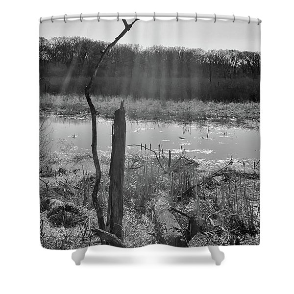 Black And White Bog Shower Curtain