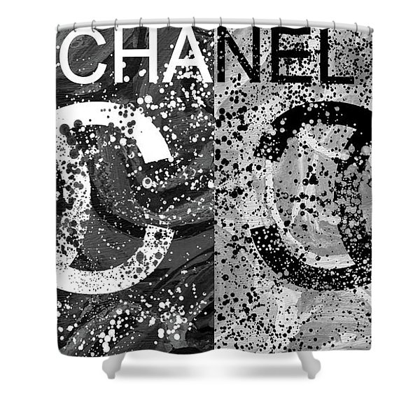 Black And White Chanel Art Shower Curtain