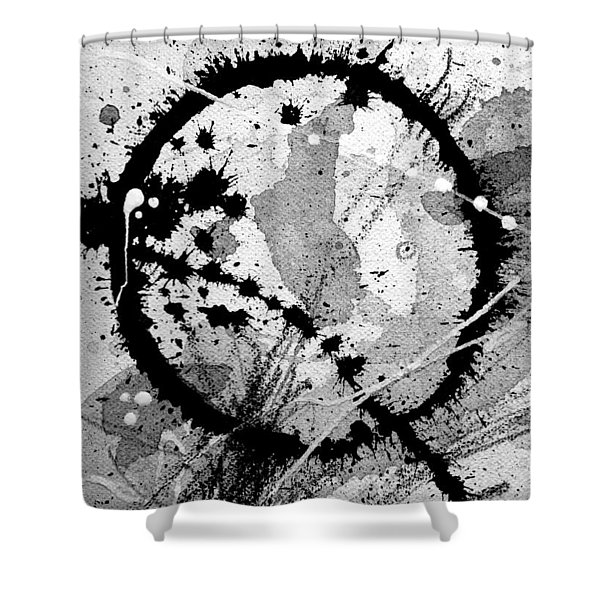 Black And White Five Shower Curtain
