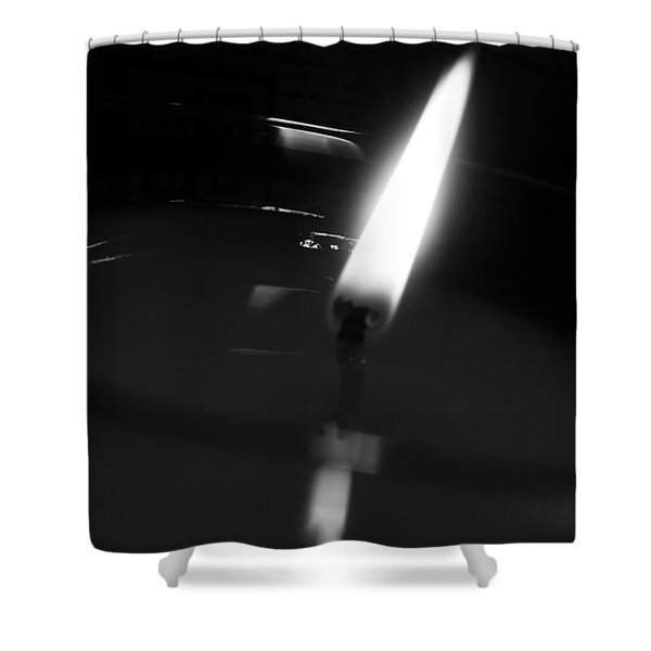 Black And White Flame Shower Curtain