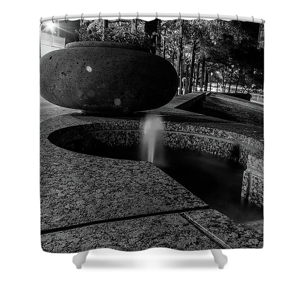 Black And White Fountain Shower Curtain