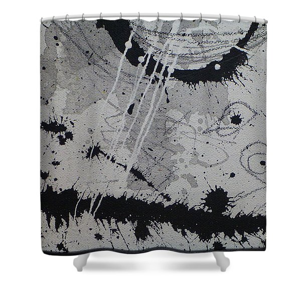 Black And White Four Shower Curtain