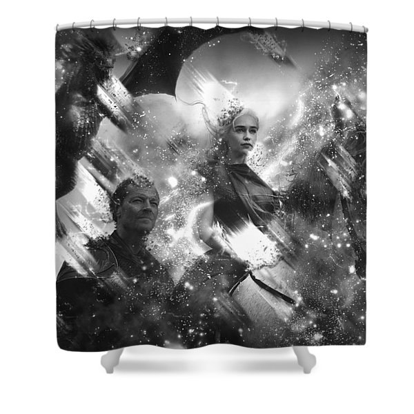 Black And White Games Of Thrones Another Story Shower Curtain