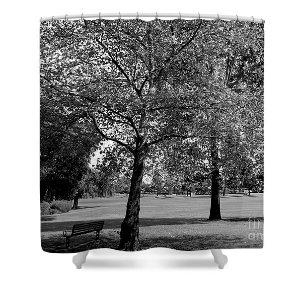 Black And White Nature Shower Curtain