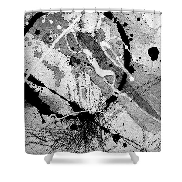 Black And White One Shower Curtain