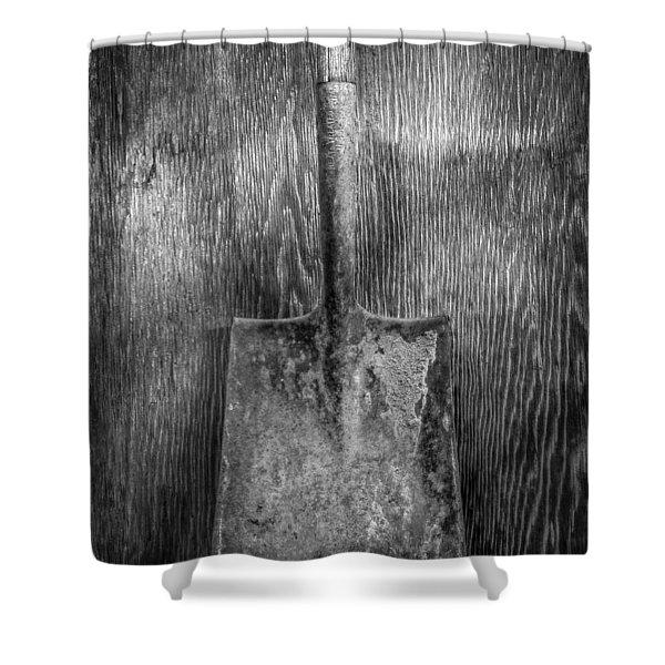 Square Point Shovel 3 Shower Curtain
