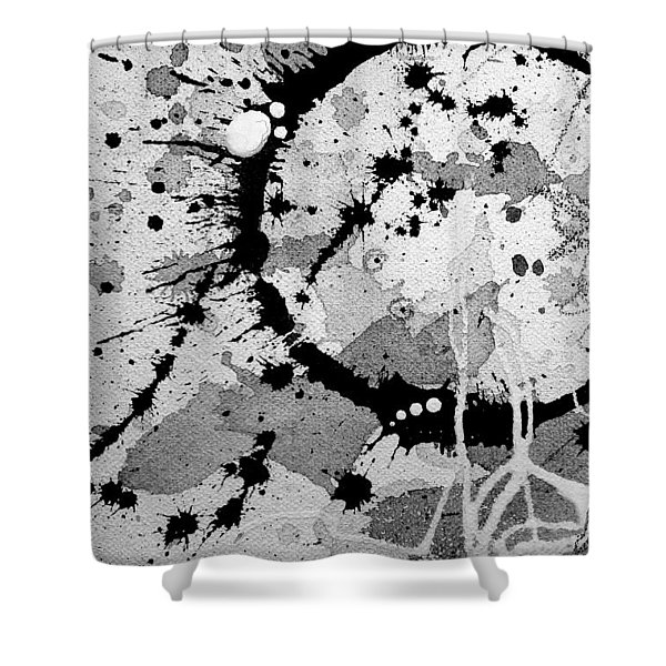 Black And White Two Shower Curtain
