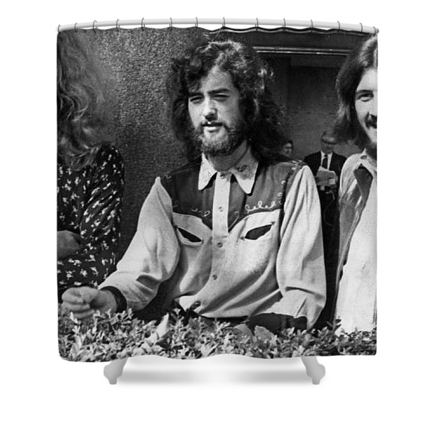 Black And White Zeppelin Shower Curtain