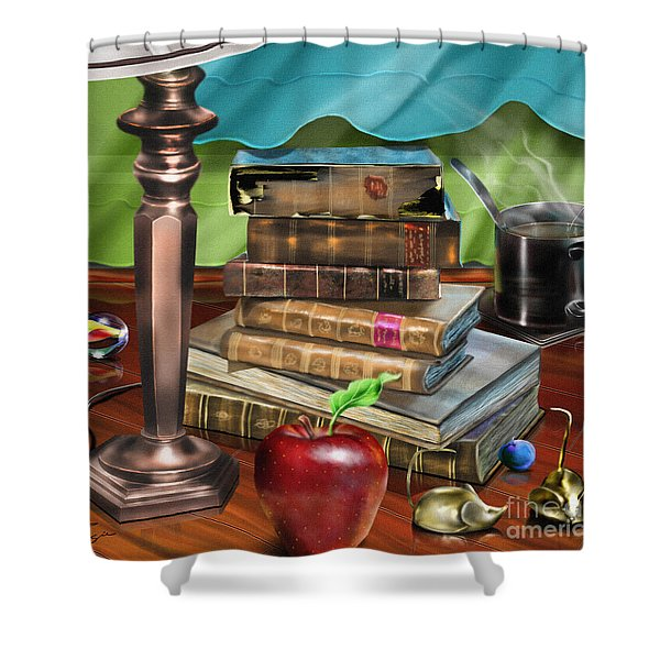 Black Art A Still Life Shower Curtain