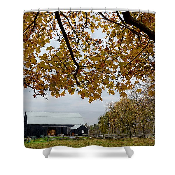 Black Barn Farm Shower Curtain