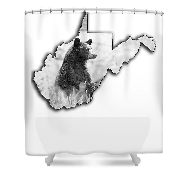 Black Bear Standing Shower Curtain