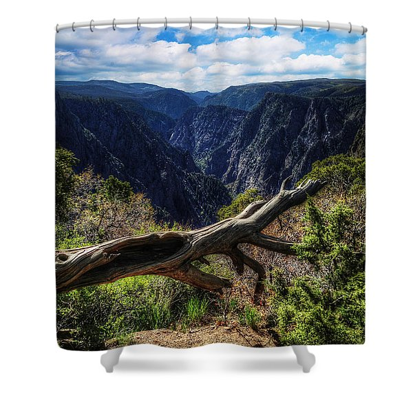 Black Canyon Of The Gunnison First Look Shower Curtain