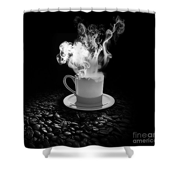 Black Coffee Shower Curtain