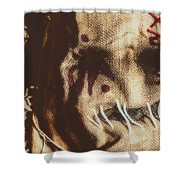 Black Eyes And Dried Out Hearts Shower Curtain