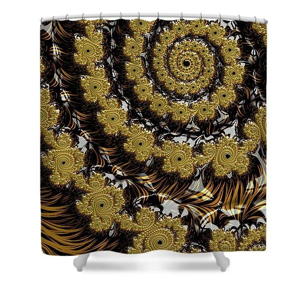 Black Gold Shower Curtain