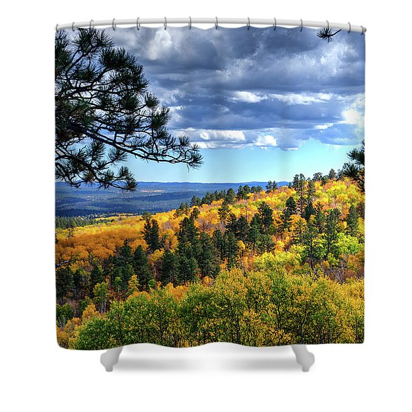 Black Hills Autumn Shower Curtain