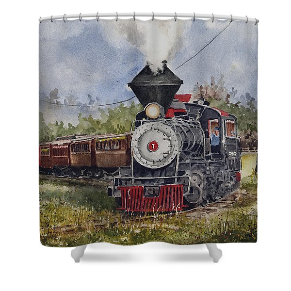 Black Hills Central Number 7 Shower Curtain