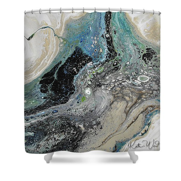 Black Ice 1 Shower Curtain