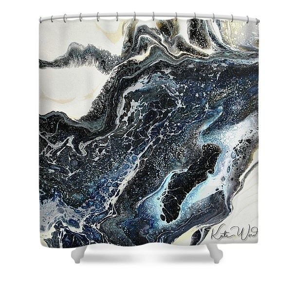 Black Ice 2 Shower Curtain