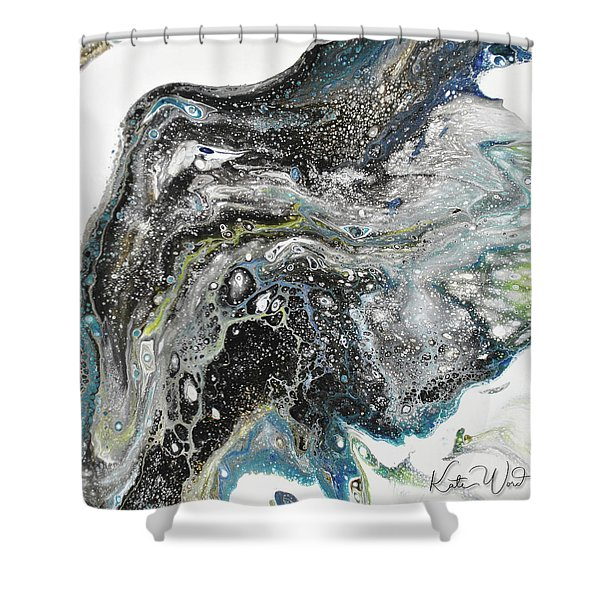 Black Ice 3 Shower Curtain