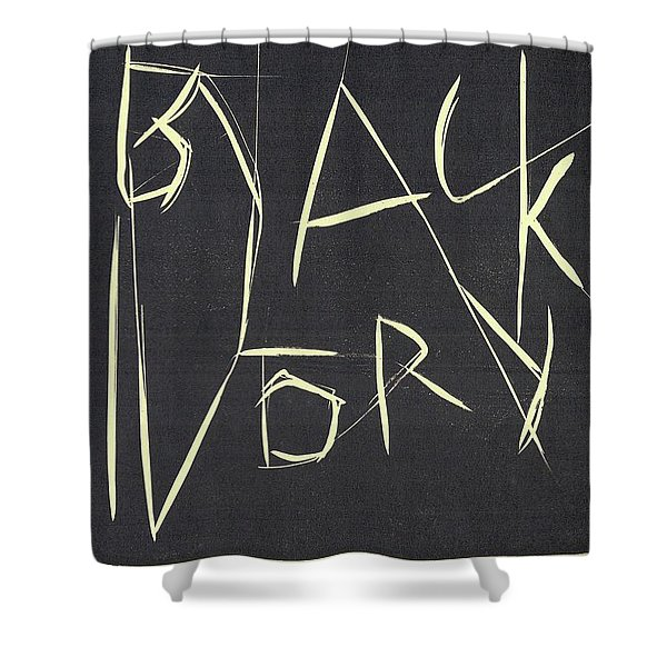 Black Ivory Title Page Shower Curtain