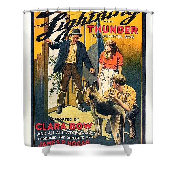 Black Lightning 1924 Shower Curtain
