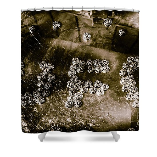 Black Ops Space Programs Shower Curtain