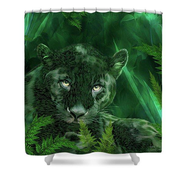 Black Panther - Spirit Of Rebirth Shower Curtain