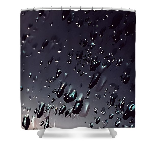 Black Rain Shower Curtain