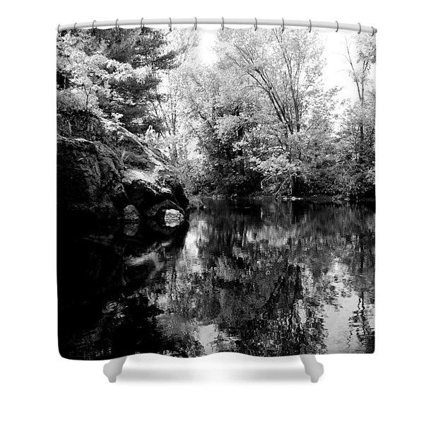 Black River 6 Shower Curtain