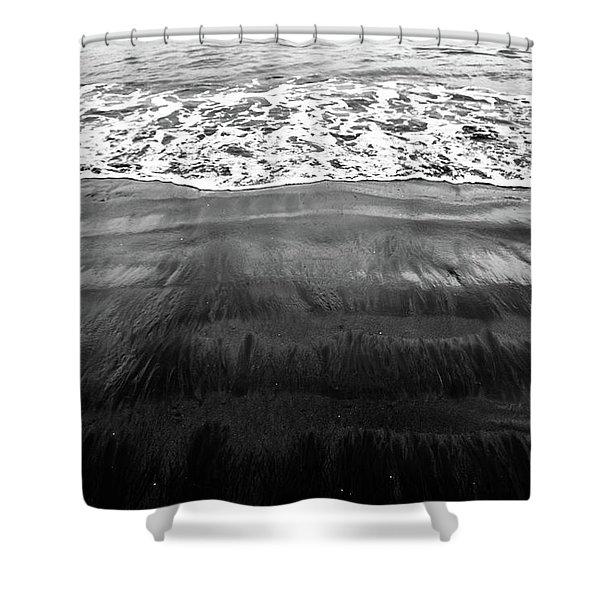 Black Sands  Shower Curtain