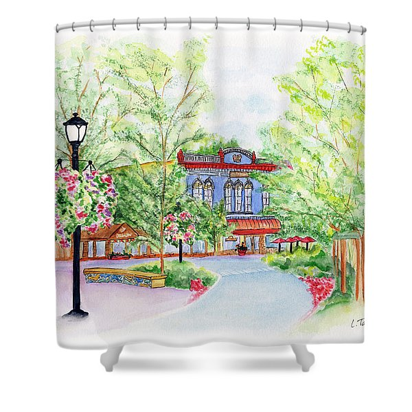 Black Sheep On The Plaza Shower Curtain