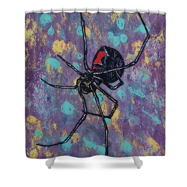Black Widow Shower Curtain