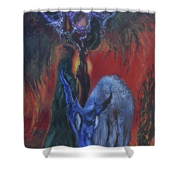 Blackberry Thorn Psychosis Shower Curtain