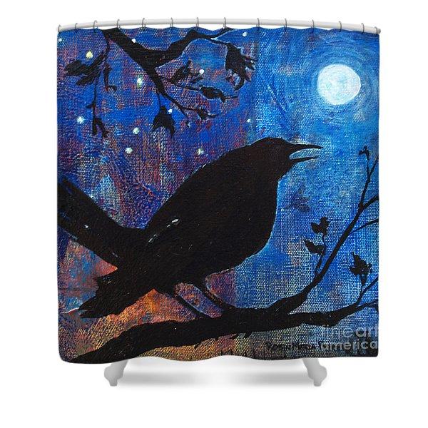 Blackbird Singing Shower Curtain