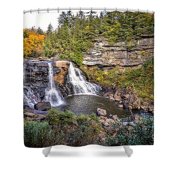 Blackwater Falls In Autumn3836c Shower Curtain